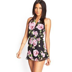 Floral Print Romper| Forever 21| Size S
